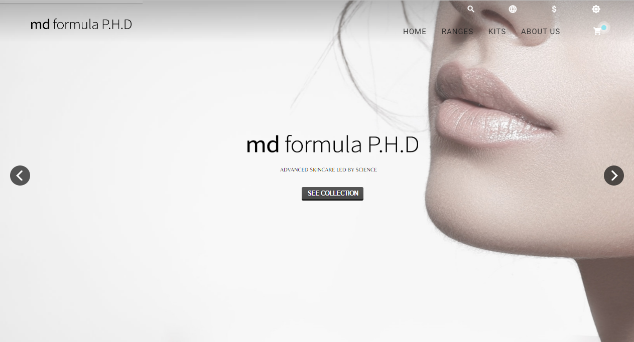 Mdformula - Ecommerce site for a London Brand