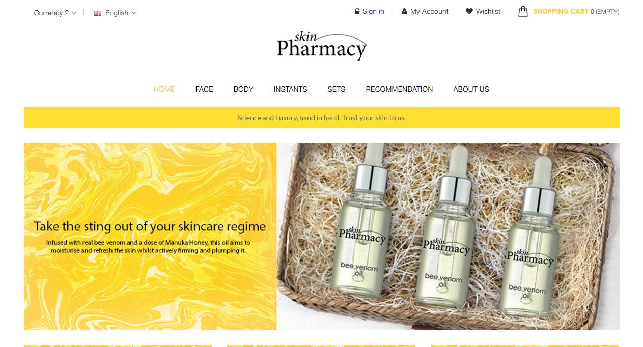 SkinPharmacy.tv Ecommerce Site Design