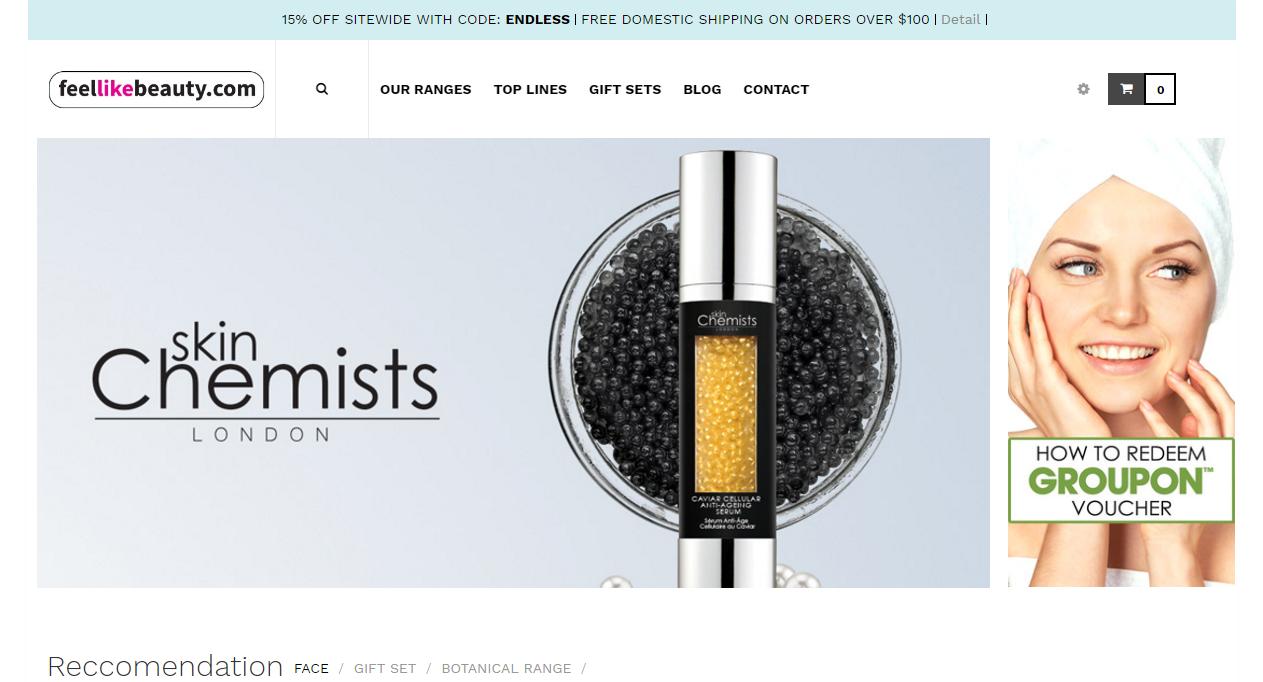 FeelLikeBeauty Beauty Ecommerce Store Design