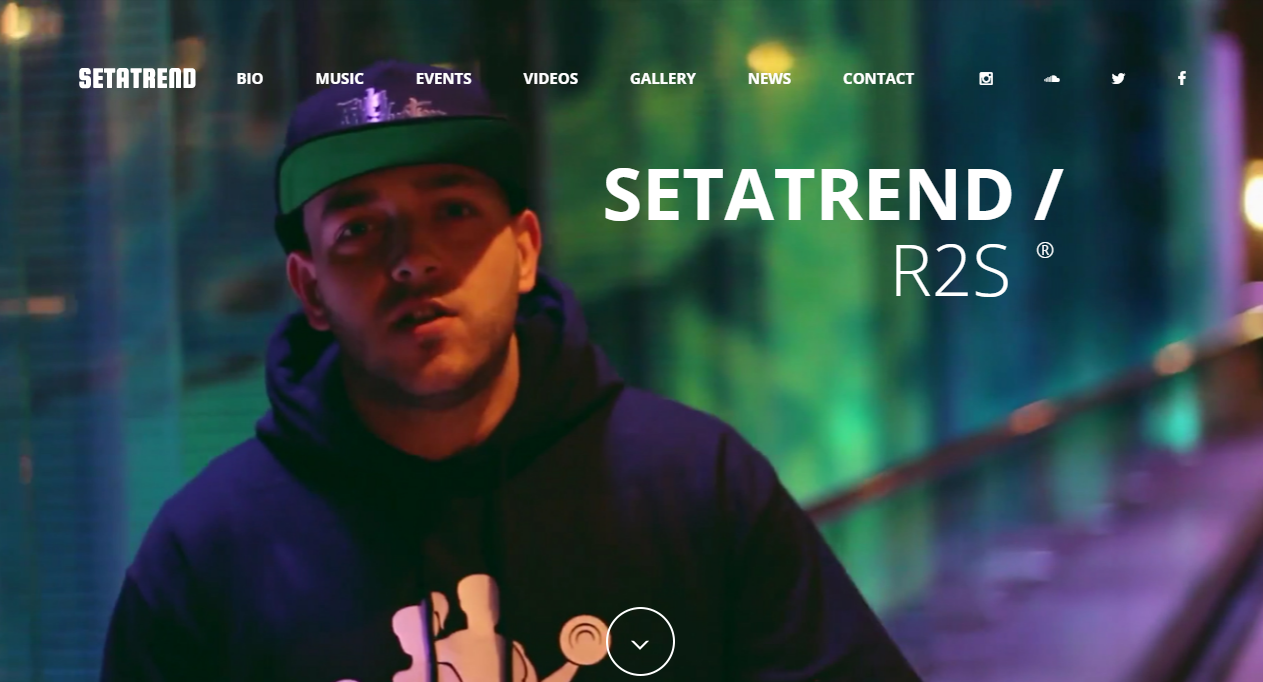 Musician Page Design