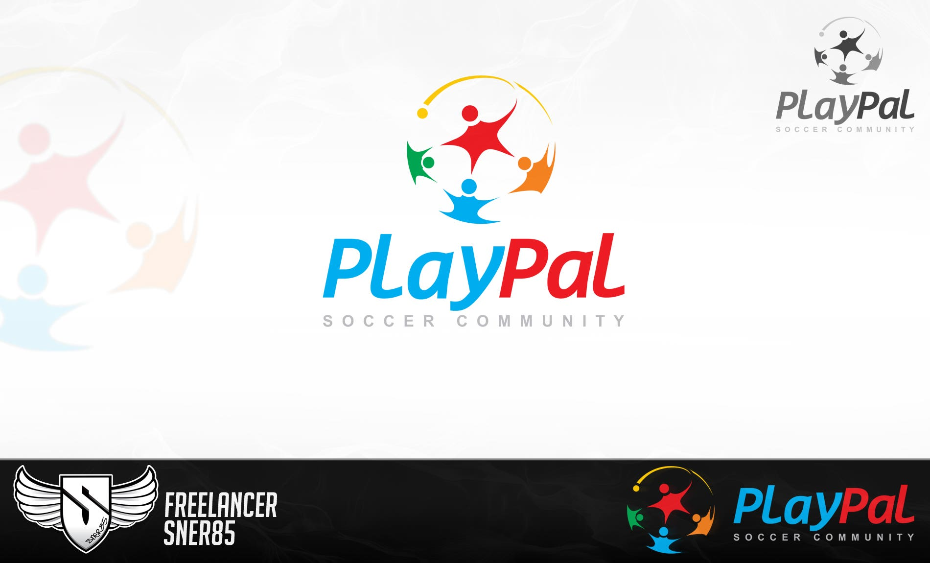 Logo design for PlayPal soccer community