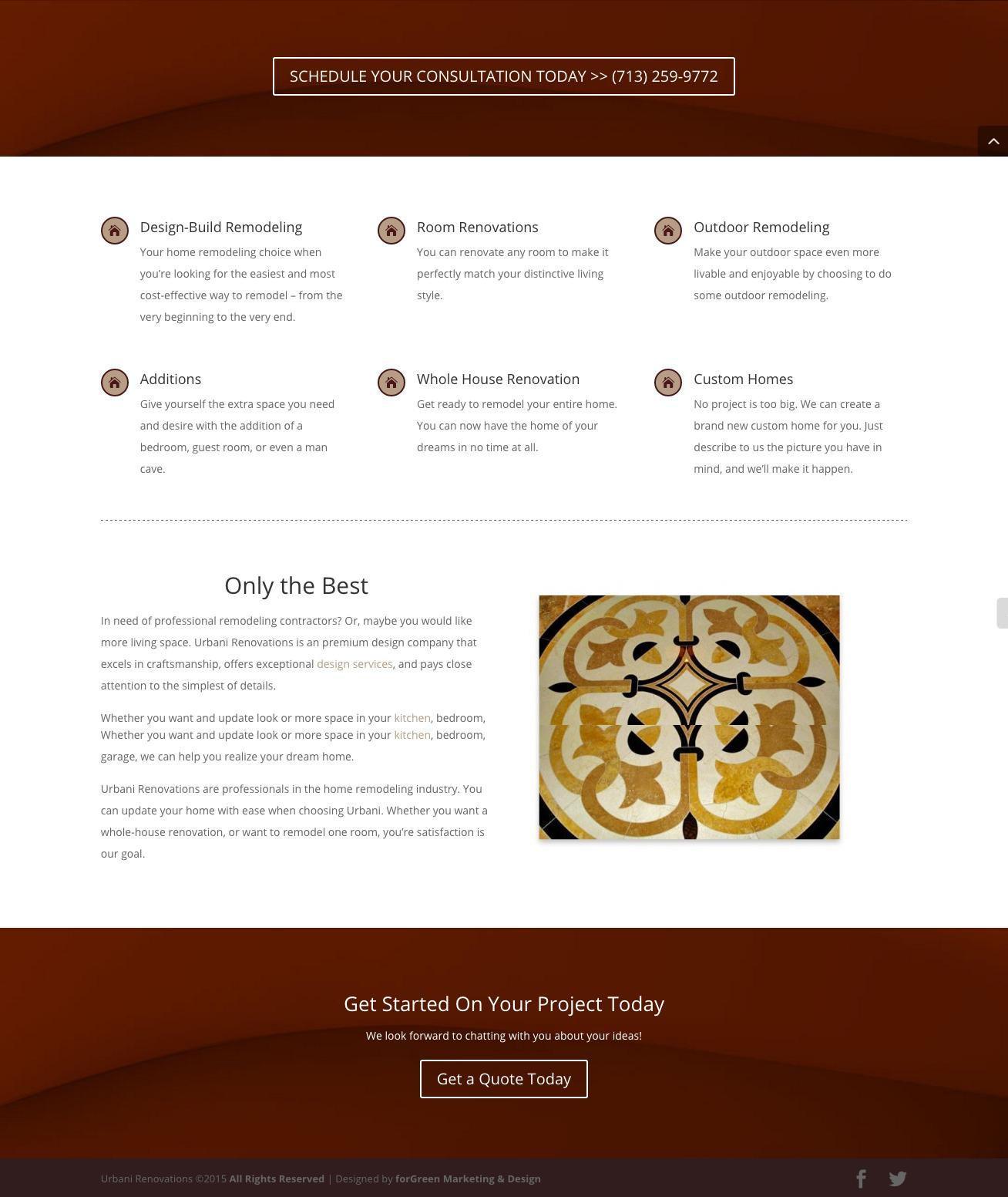 Wordpress Website for an Interior Designing Firm