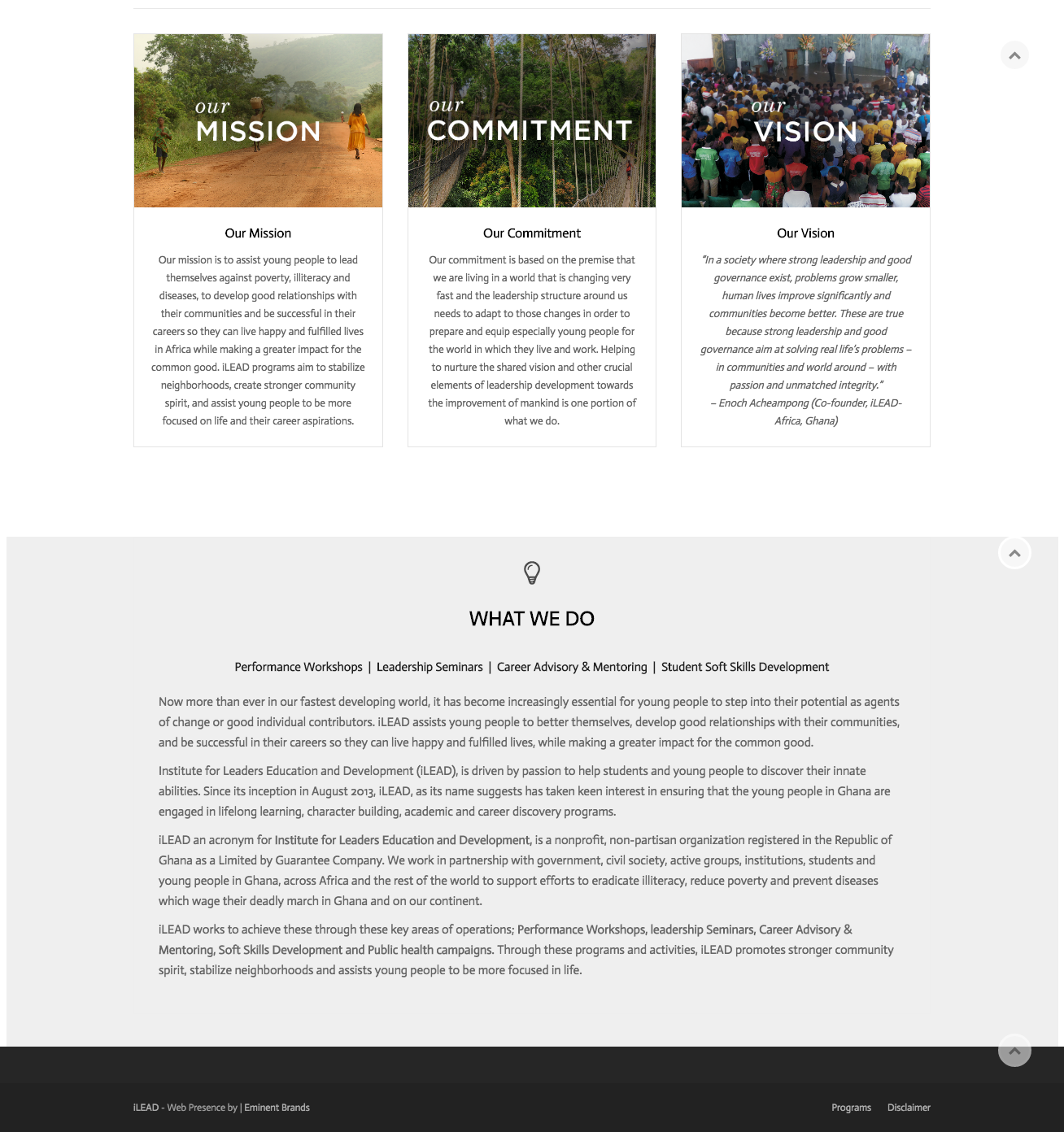 Wordpress Website for a Charity Organization