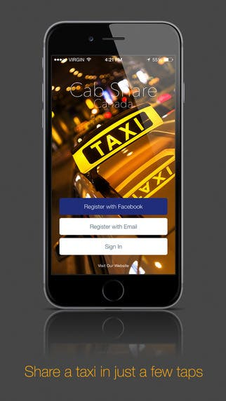 Cab Share Mobile Application -Uber Concept