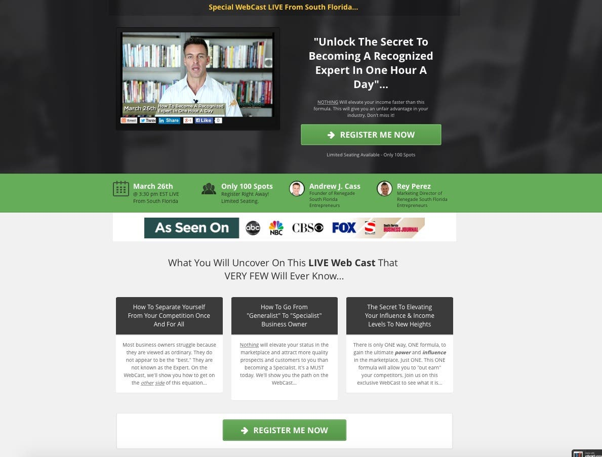 Click- Funnel/Lead Pages