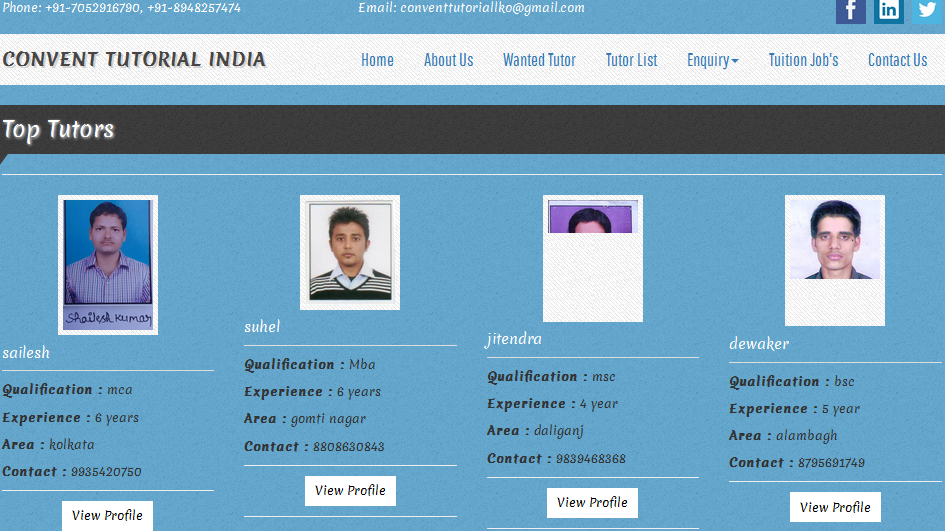 Educational and training Portal