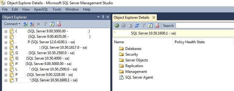 Various version of SQL Server Administration and development