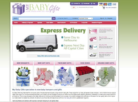 My Baby Gifts specialise in new baby hampers and gifts