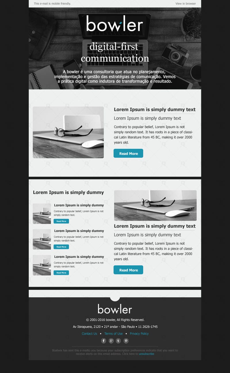 Creative Email Template | Freelancer