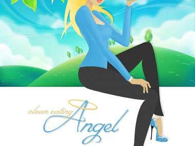 Original Character Illustration - The Clean Eating Angel
