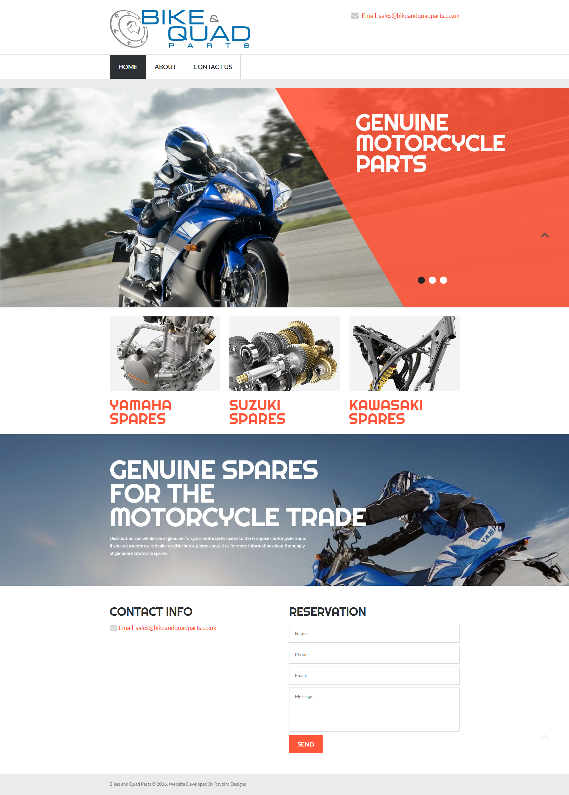 Website - Bike and Quad Parts
