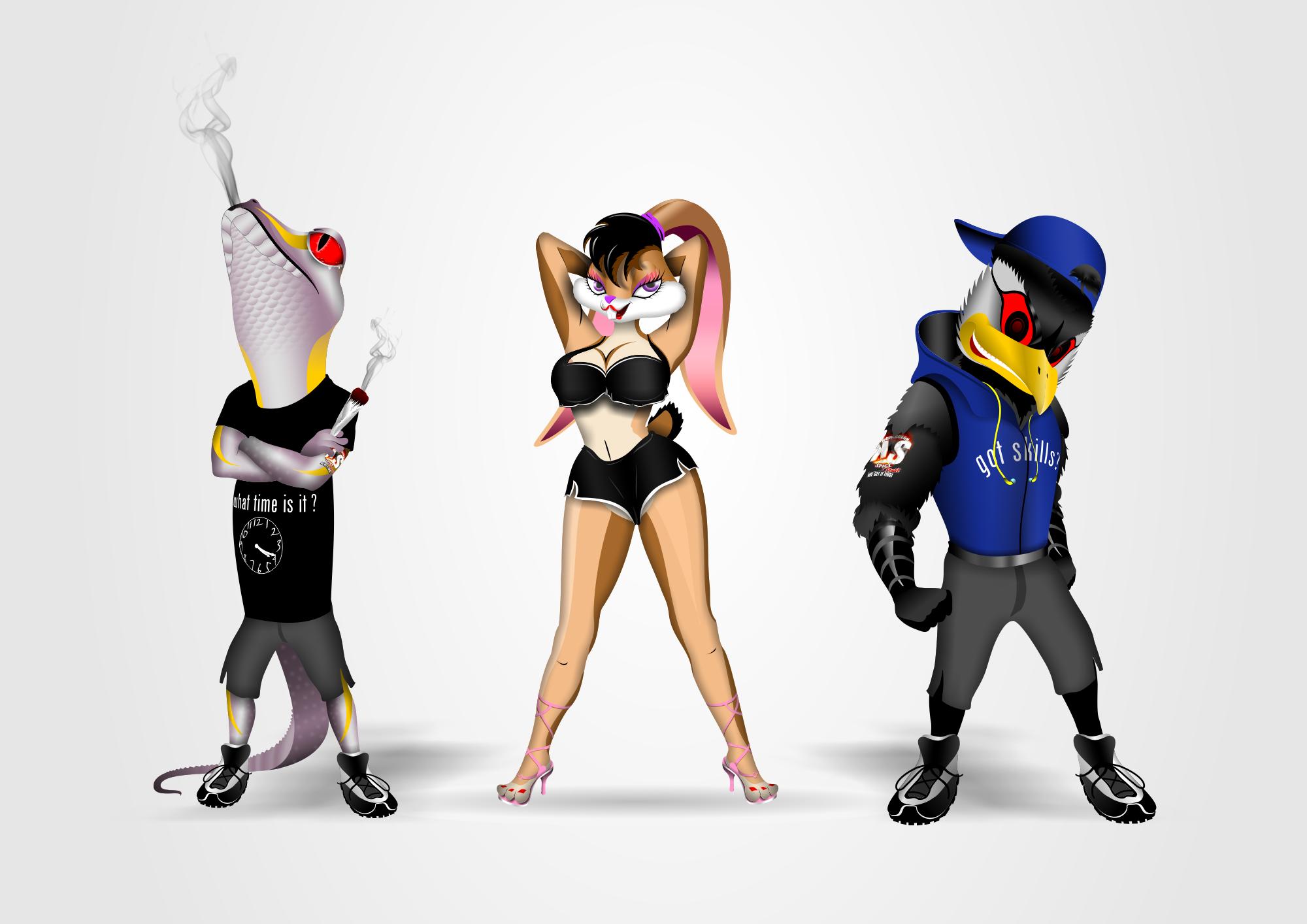 Cartoon Mascots