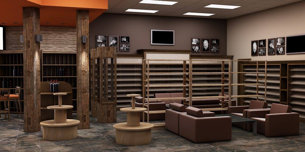 Tobacoo and Cigar lounge design