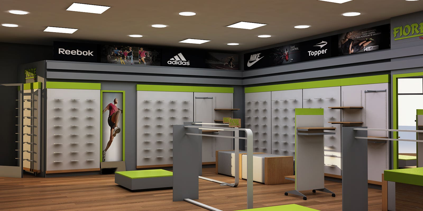 Sports Apparel Store Design