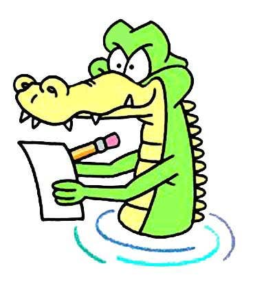 Funny Crocodile Cartoon Logo