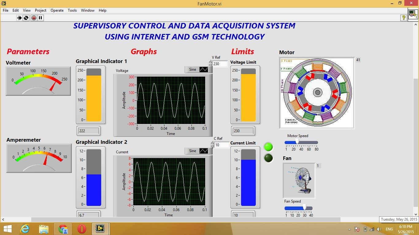 SCADA System Using LabVIew