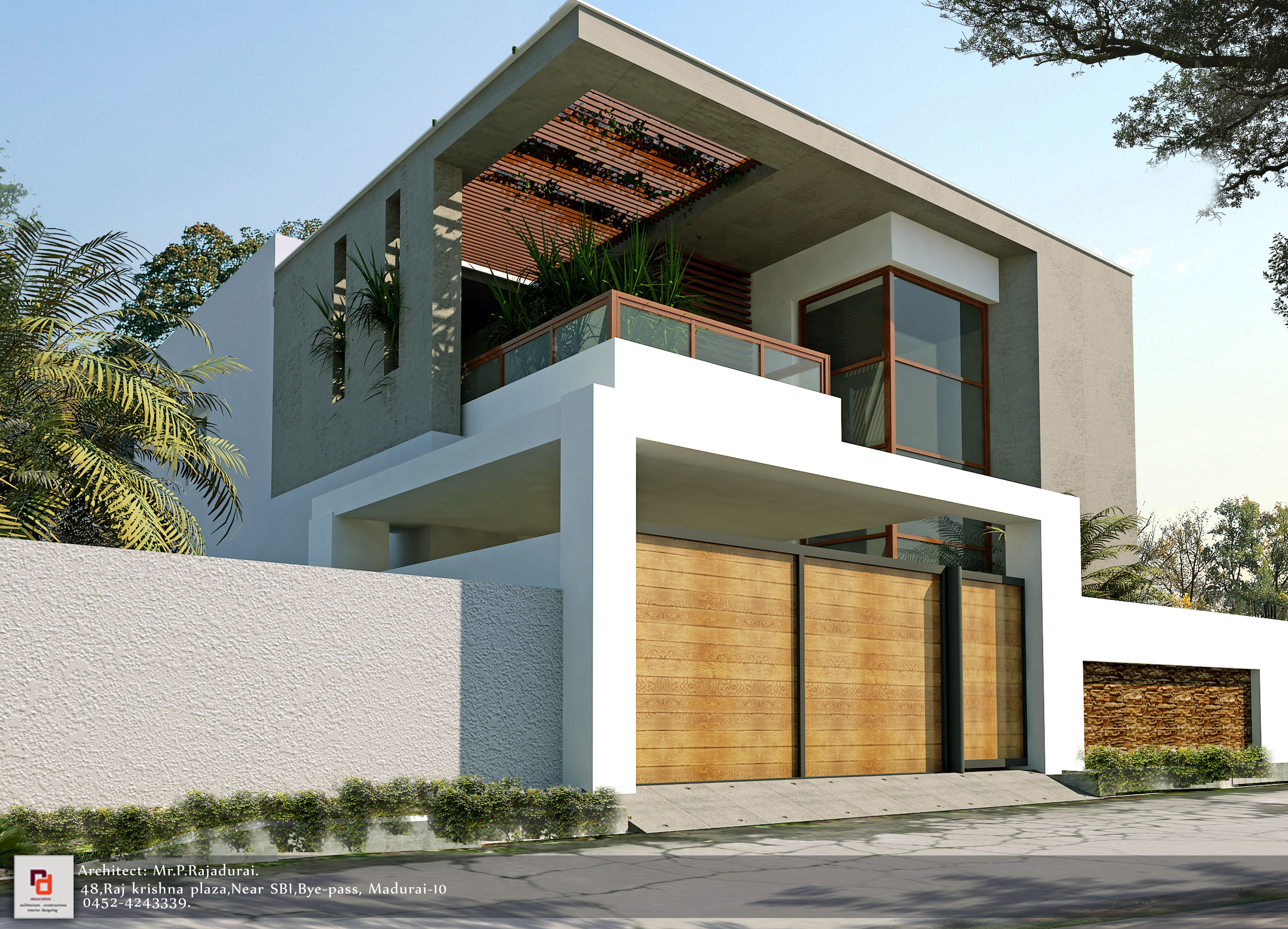 3D HOME ELEVATION DRAWING