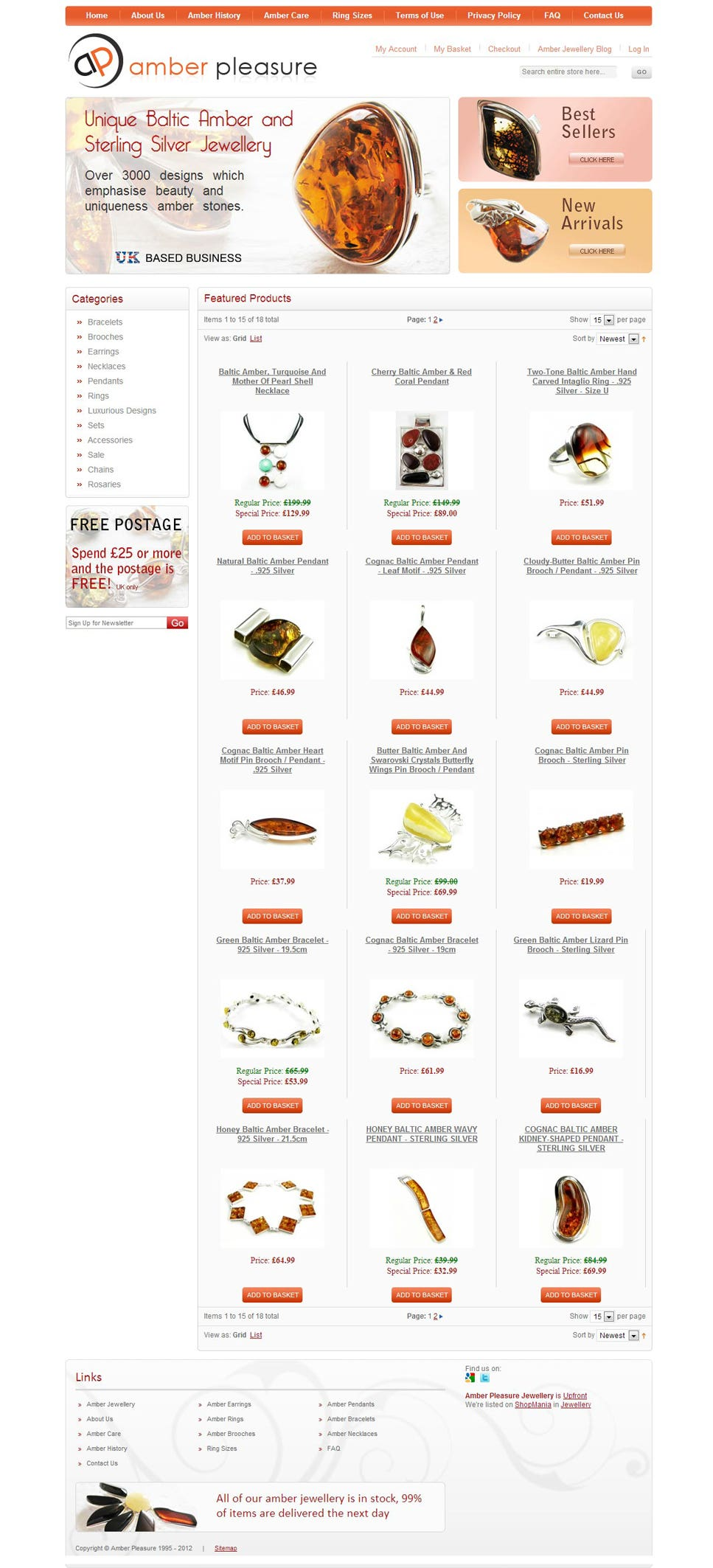 Jewellary website based on Magento