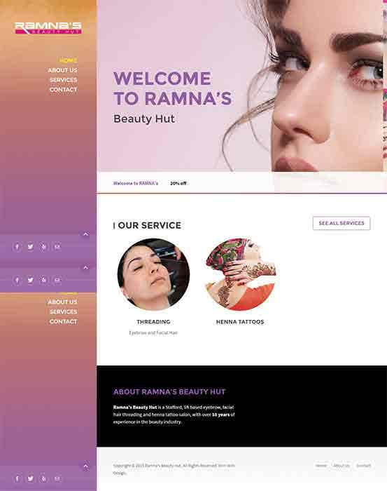 Web Design & Development (Beatuy Saloon Website)