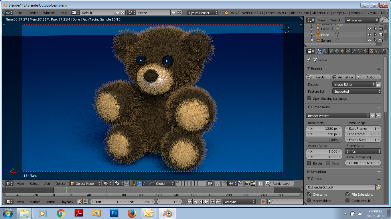 Bear Created by blender