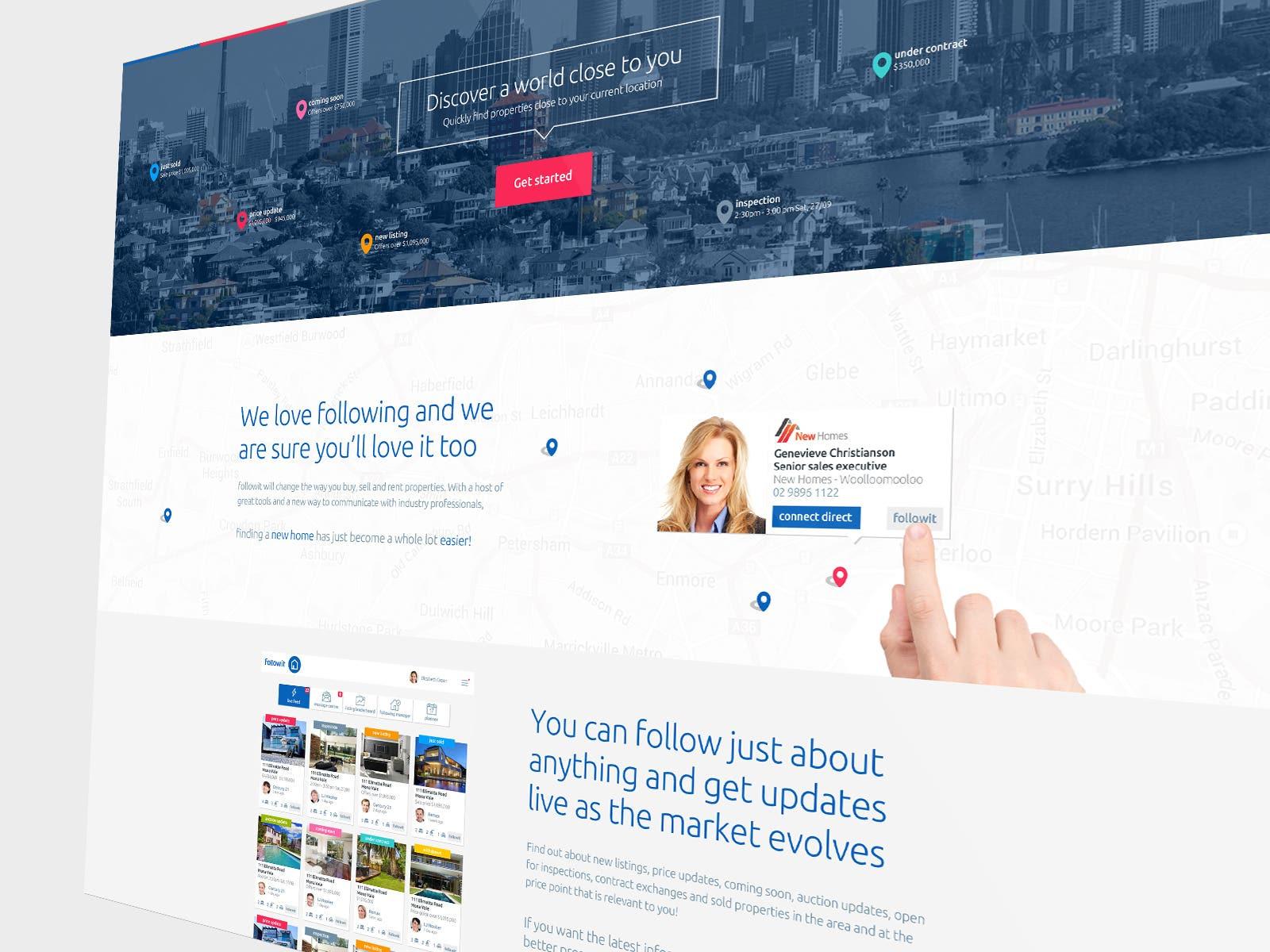 Followit - Real Estate Platform Website