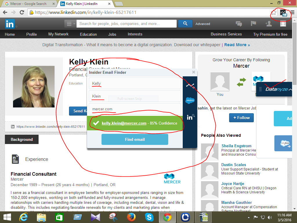 collect email from linked-in [Lead generation]