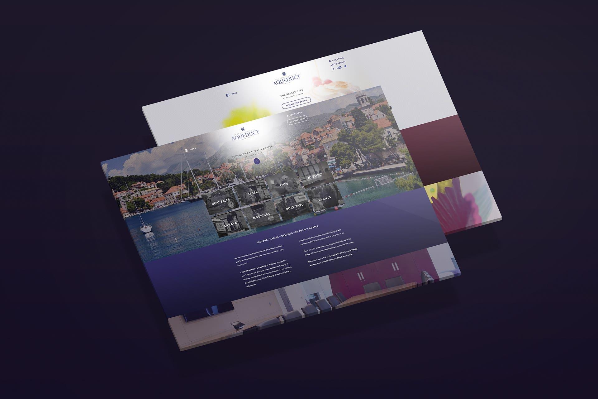 Aqueduct Marina   website design
