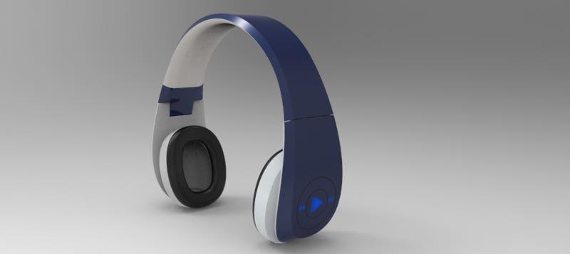 Wireless Headphones design and renders