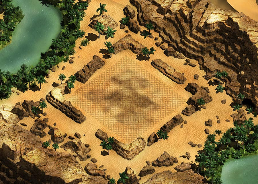 Orthographic Game Map