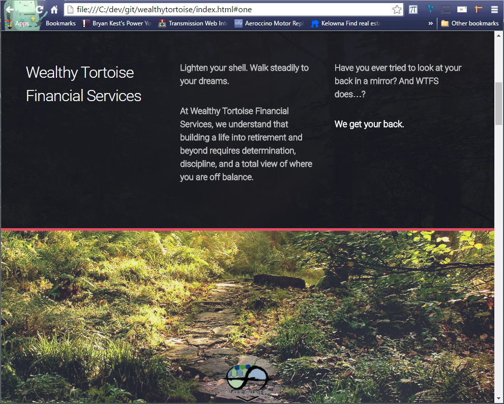 Responsive HTML5/CSS3 Single Page Website