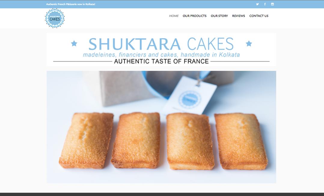 Shuktara Cakes website - http://shuktaracakes.com/