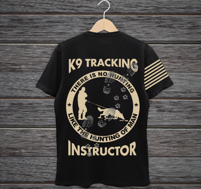 T-shirt Print For K-9 Tracking Instructor