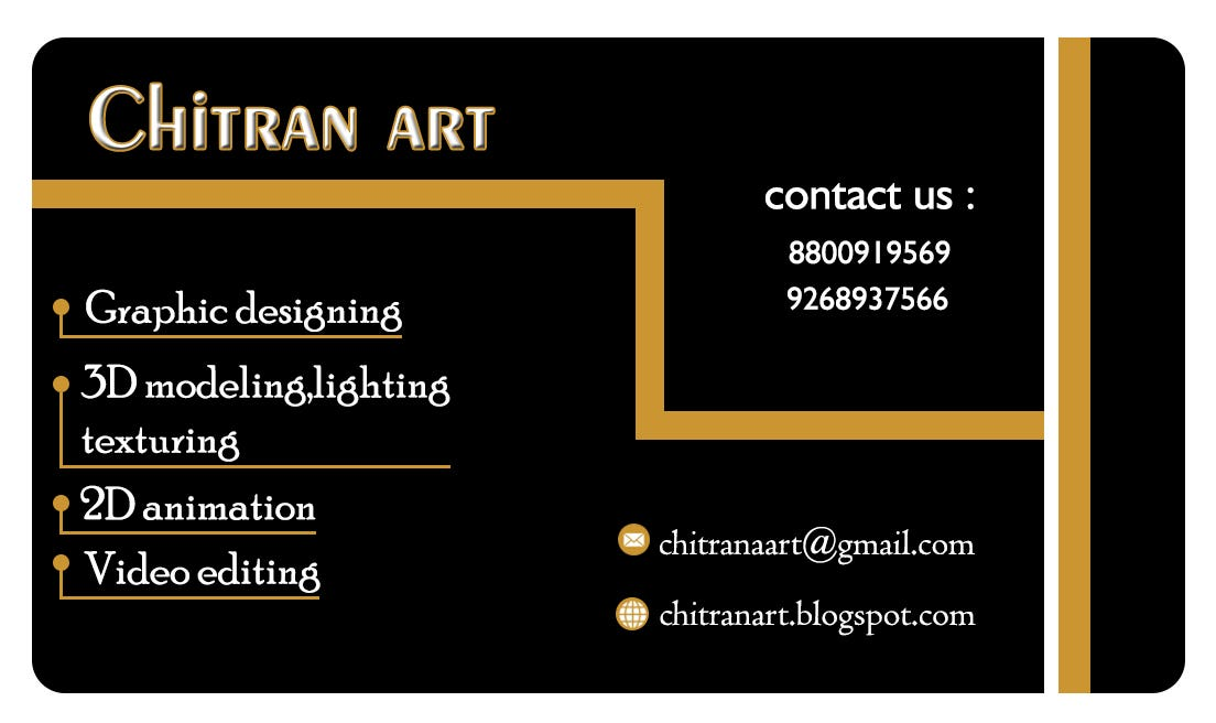 chitran art visiting card