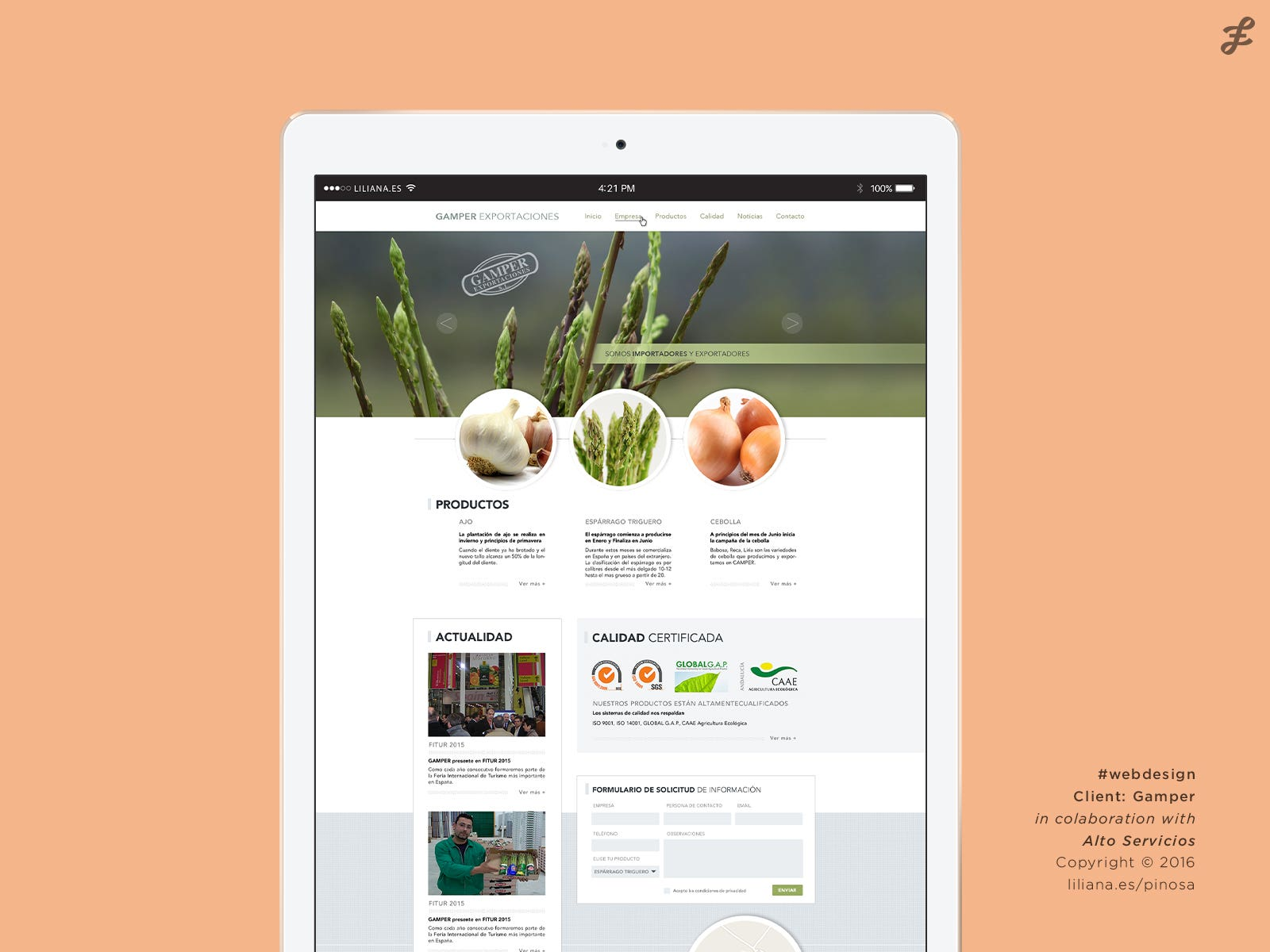 Gamper / Web design