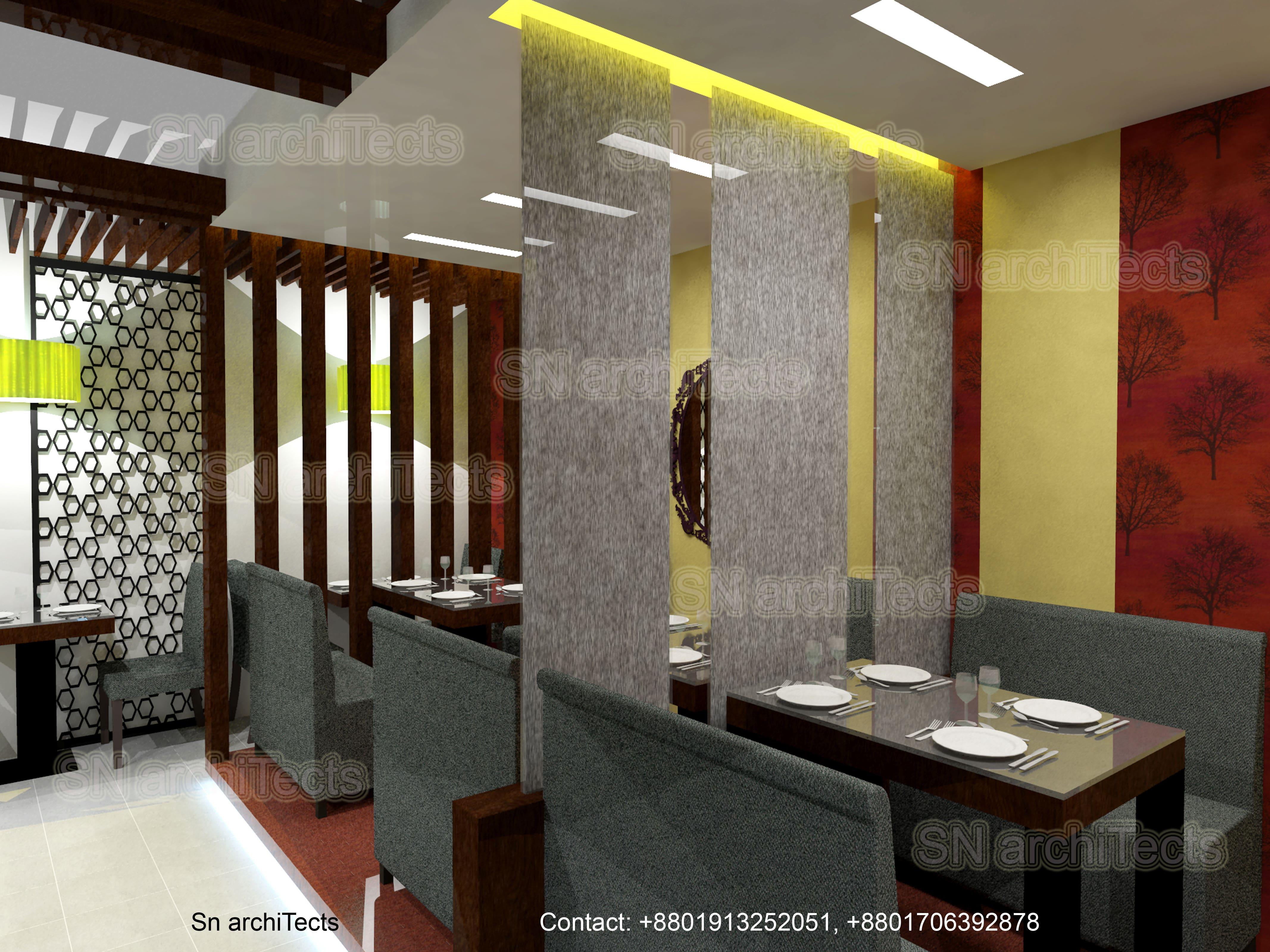 Interior of Wok & Cook Restaurant