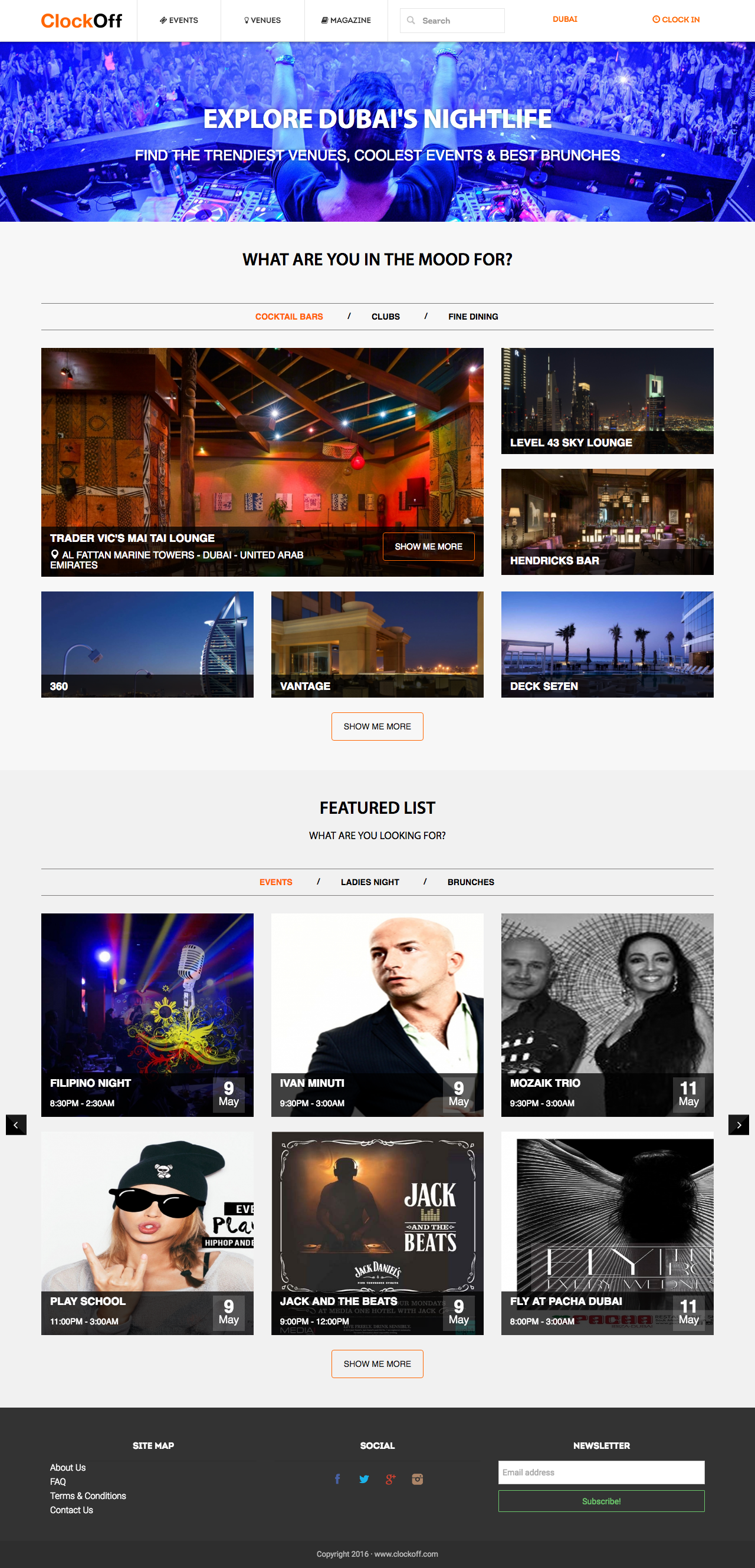 Events Website