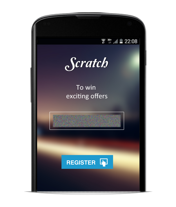 Virtual Scratch Coupon App