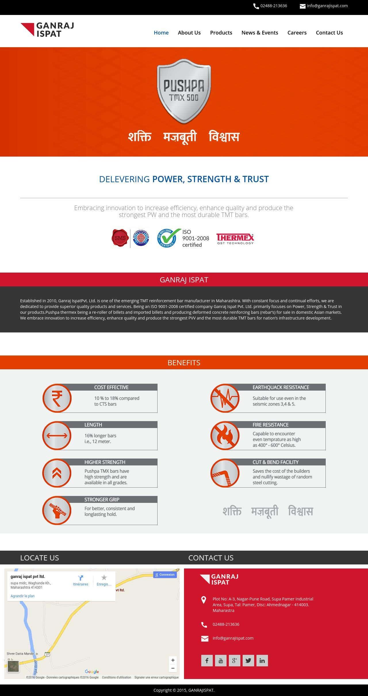 Website for Pushpa tmx500