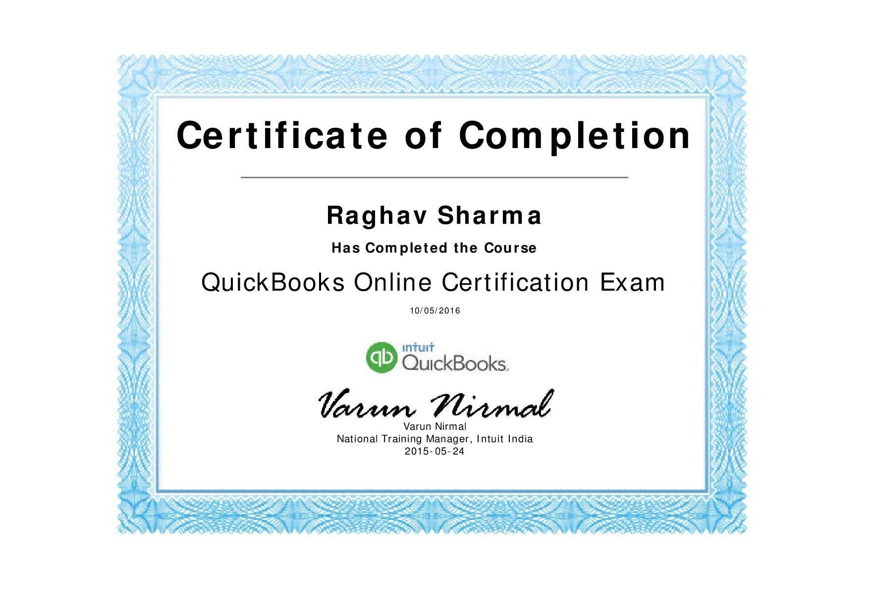 Quick Books Pro Advisor