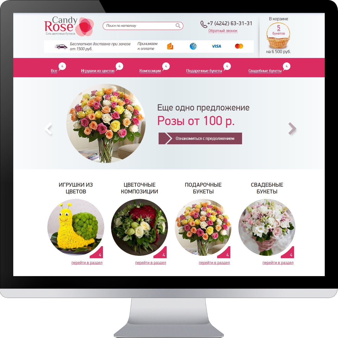 website design Candy Rose