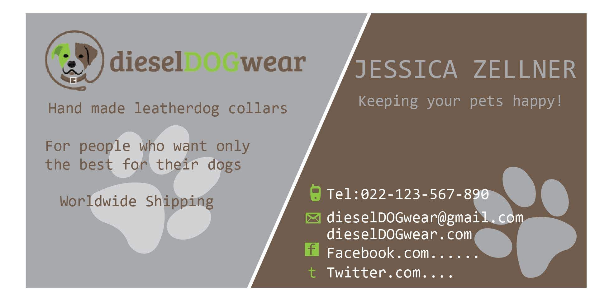 Diesel Dog Wear - Business Card