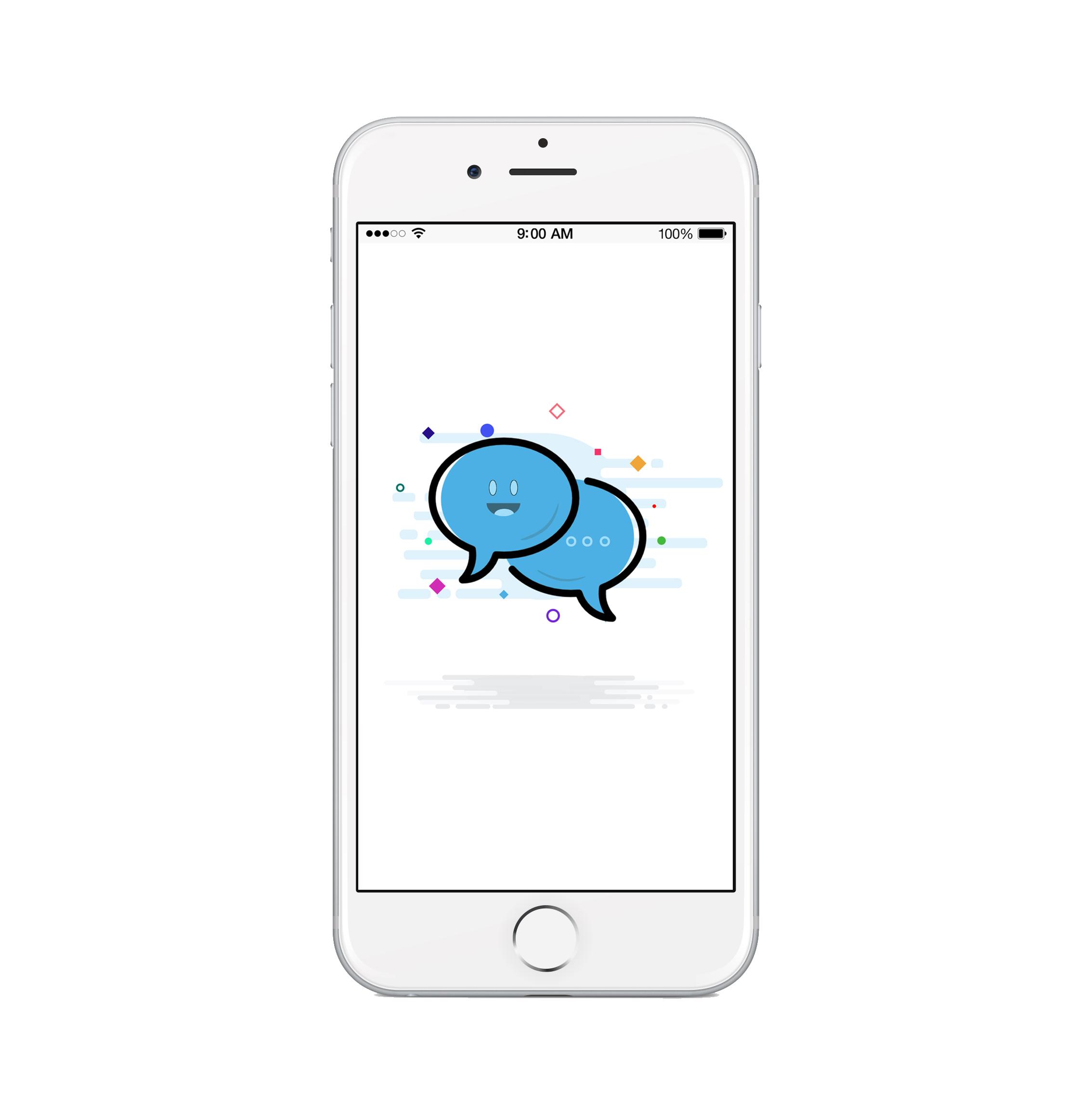 messaging app intro illustration