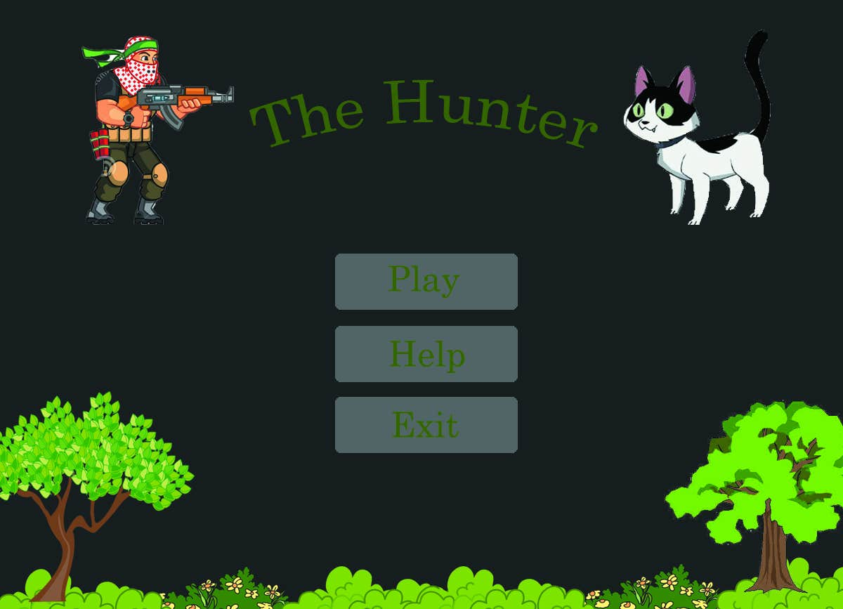 The Hunter Game Using Java GUI and Photoshop