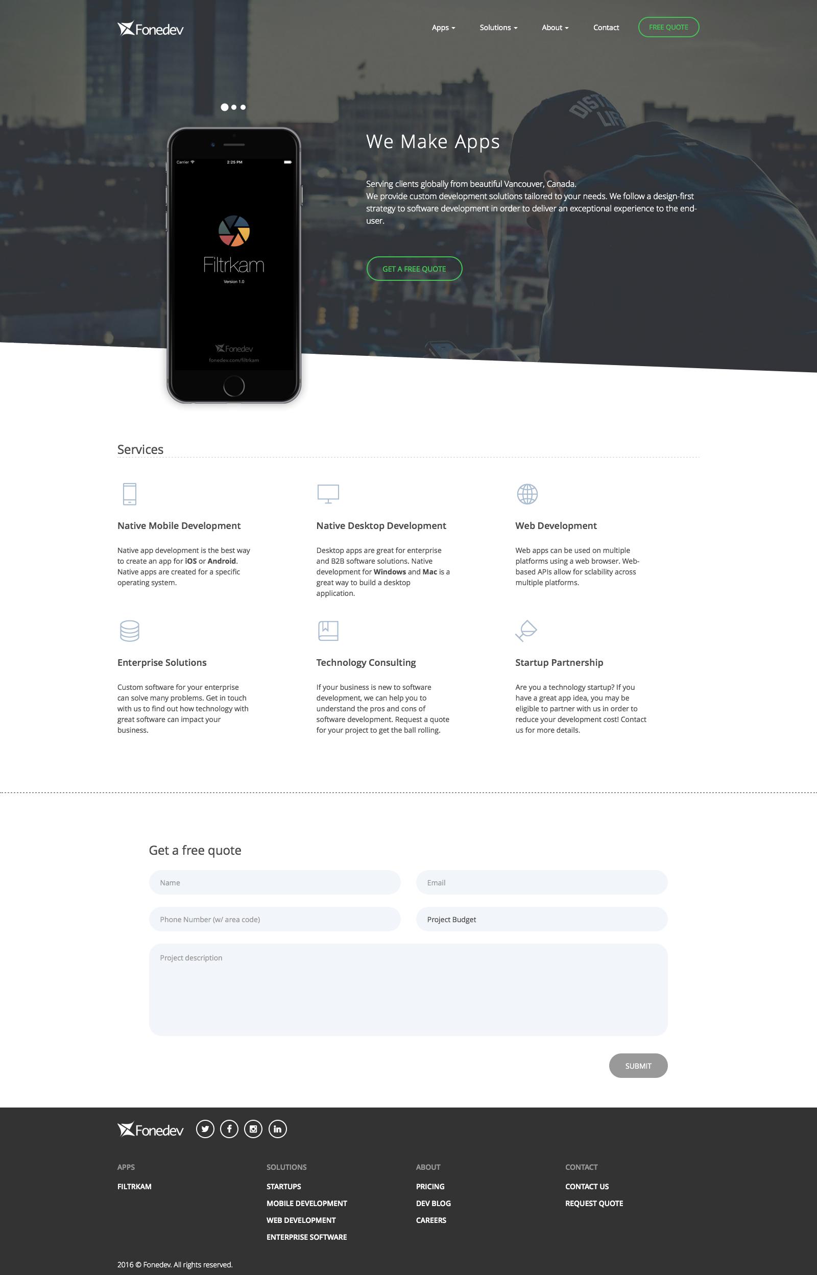Fonedev Website