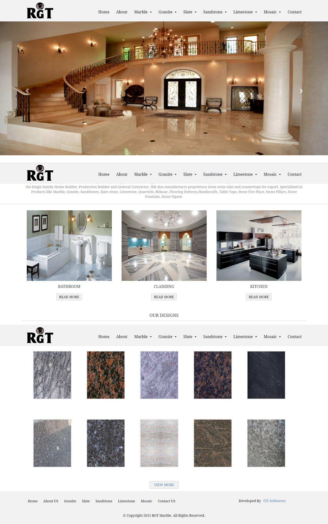 Website design and development for Marble Company