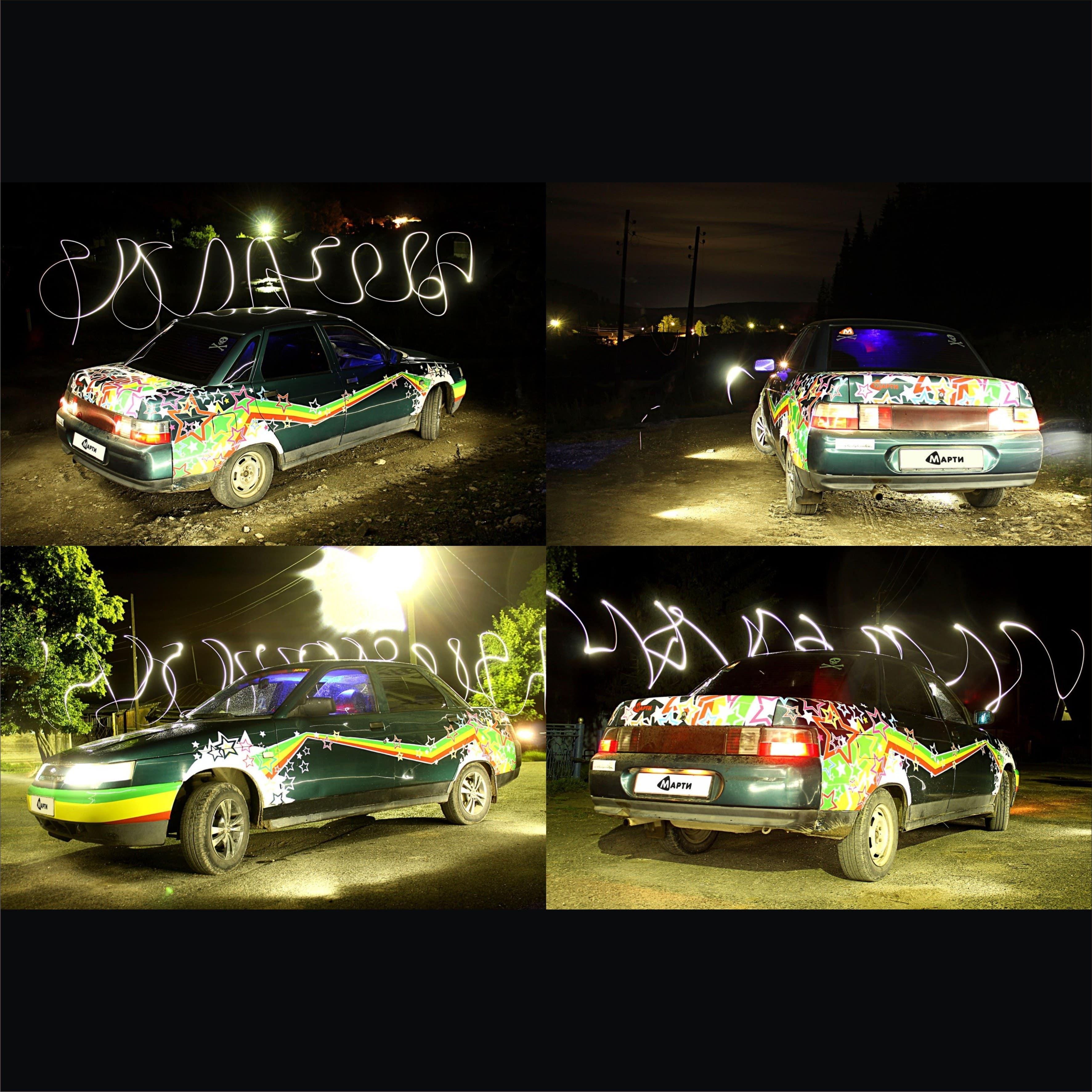 Оклейка полноцветной пленкой автомобиля