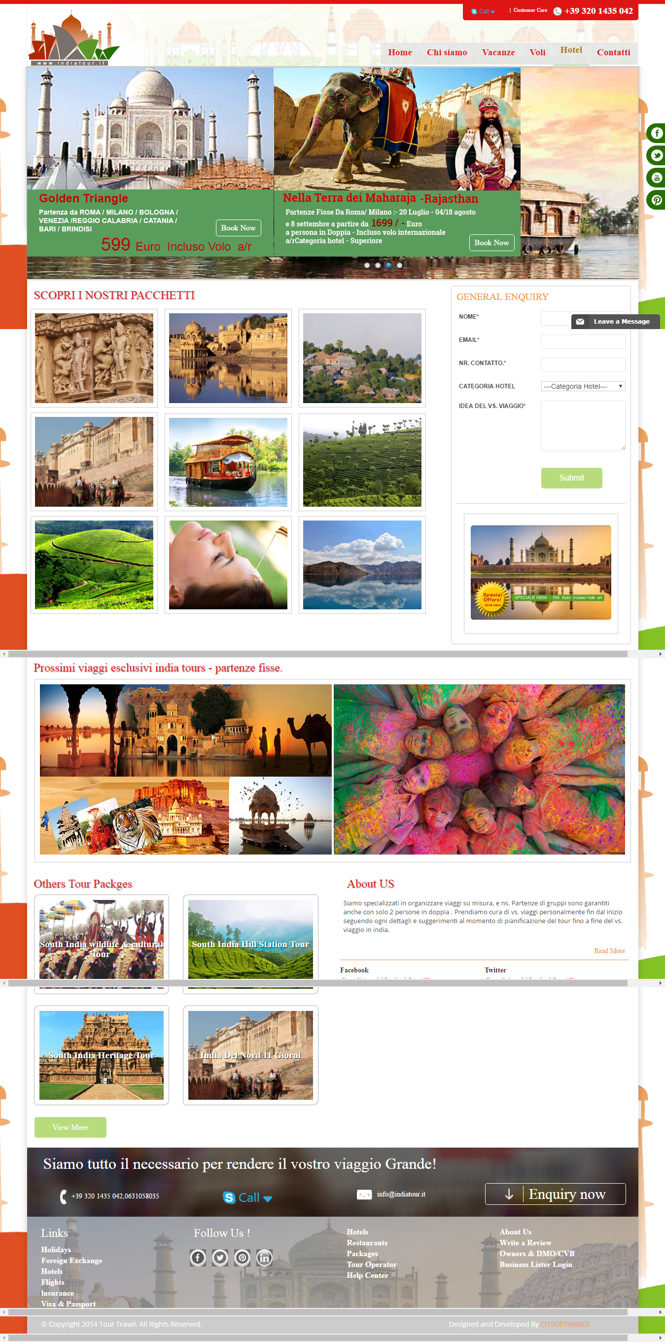 Website design and development for Indiatour.it