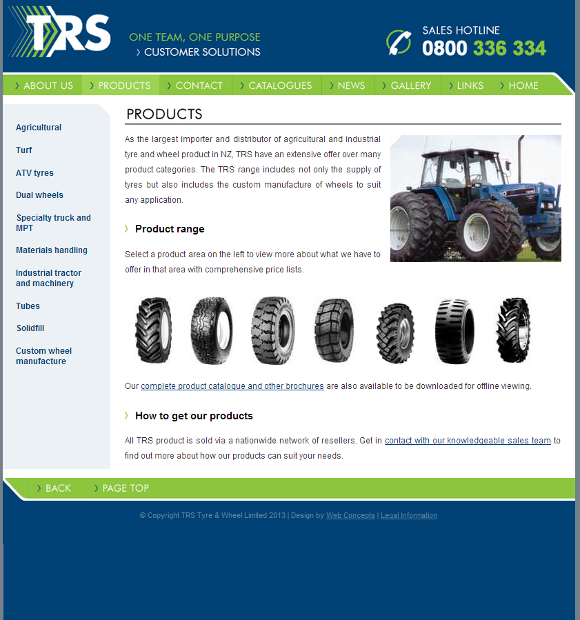 Online product catalogue update via CMS