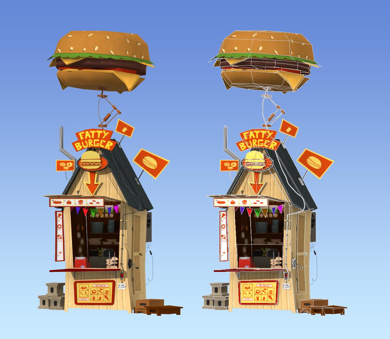 Stylized Burger Shack