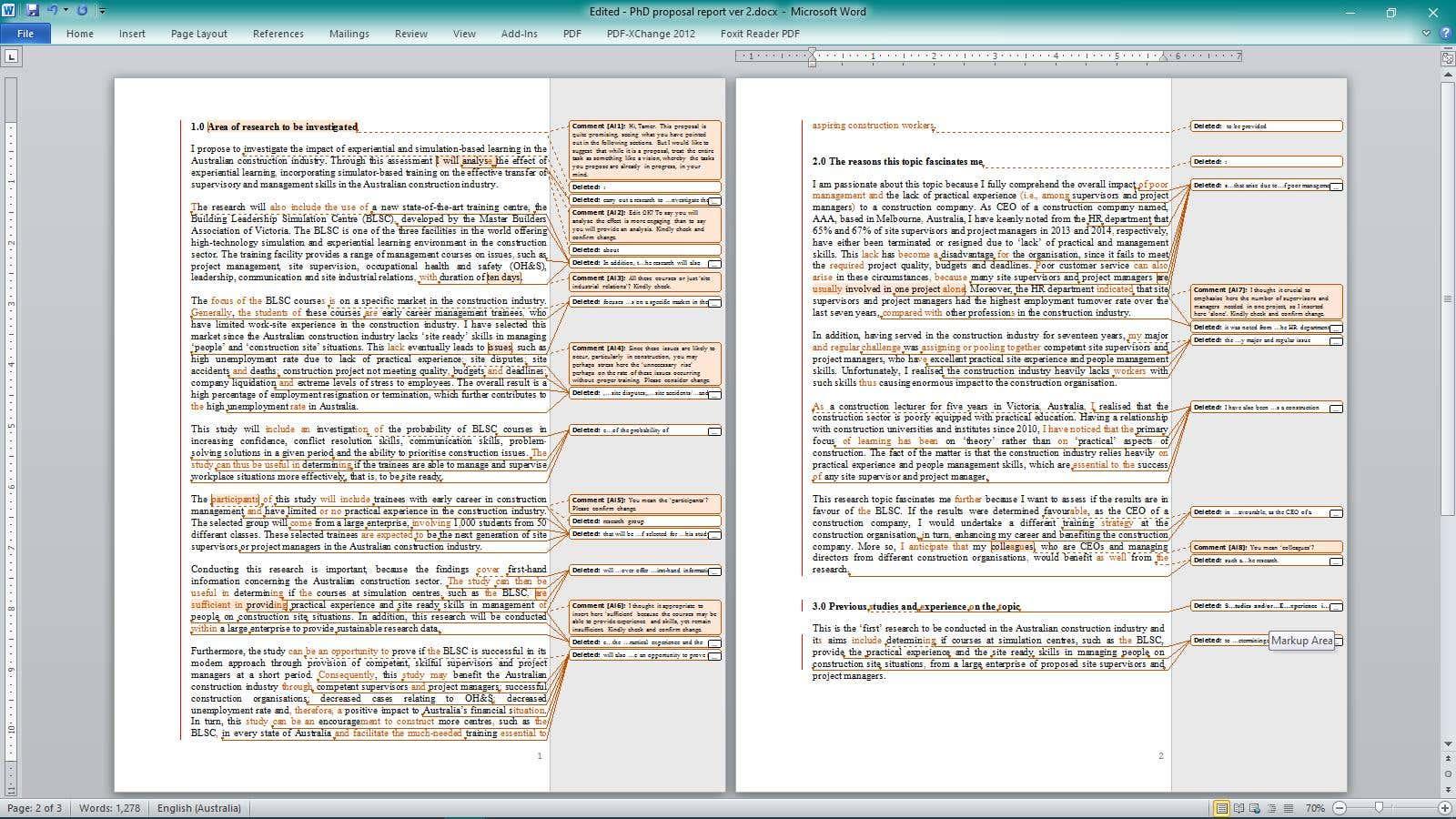 PhD proposal editing